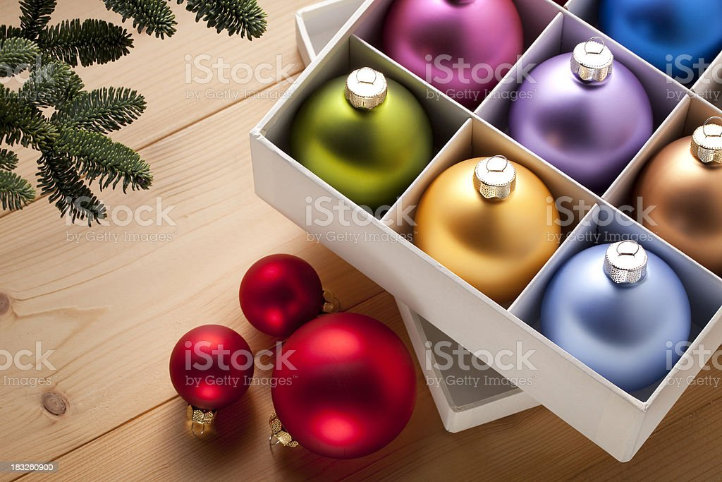 Christmas tree decorations. royalty-free stock photo