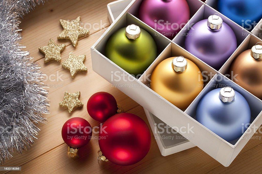 Christmas tree decorations. royalty-free stock photo