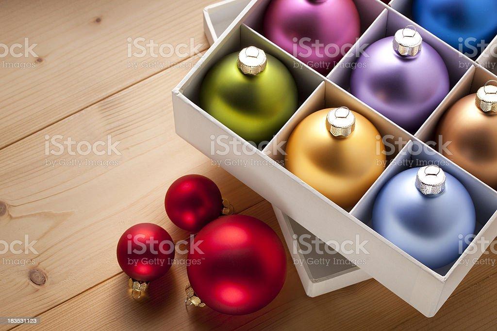 Christmas tree decorations. stock photo