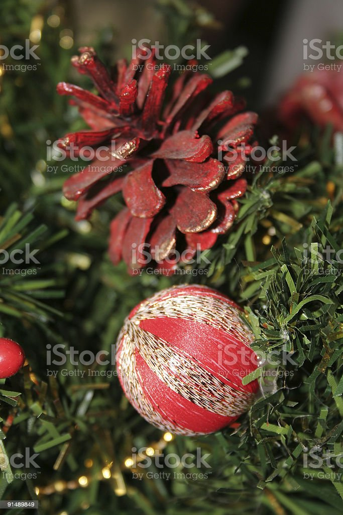 Christmas tree decorations royalty-free stock photo