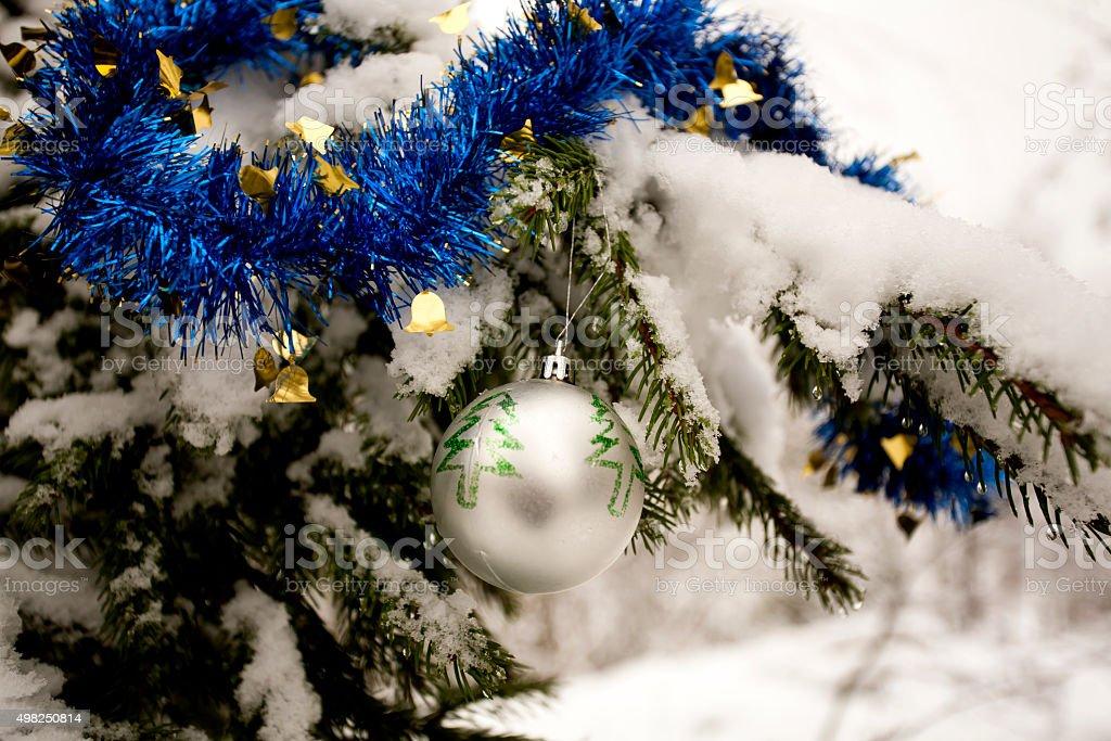 Decorazioni Albero Di Natale Blu : Decorazioni albero di natale bluargento palla e ghirlanda
