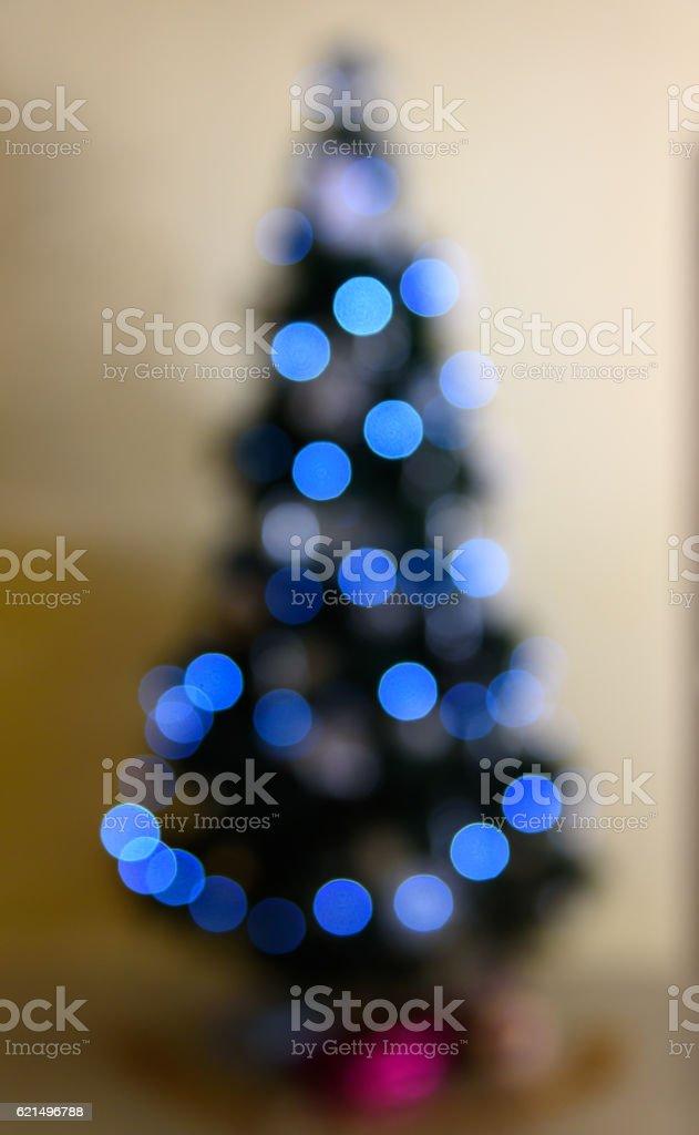 Christmas tree Defocused background photo libre de droits