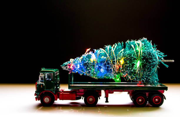 Christmas Tree Delivery - foto stock