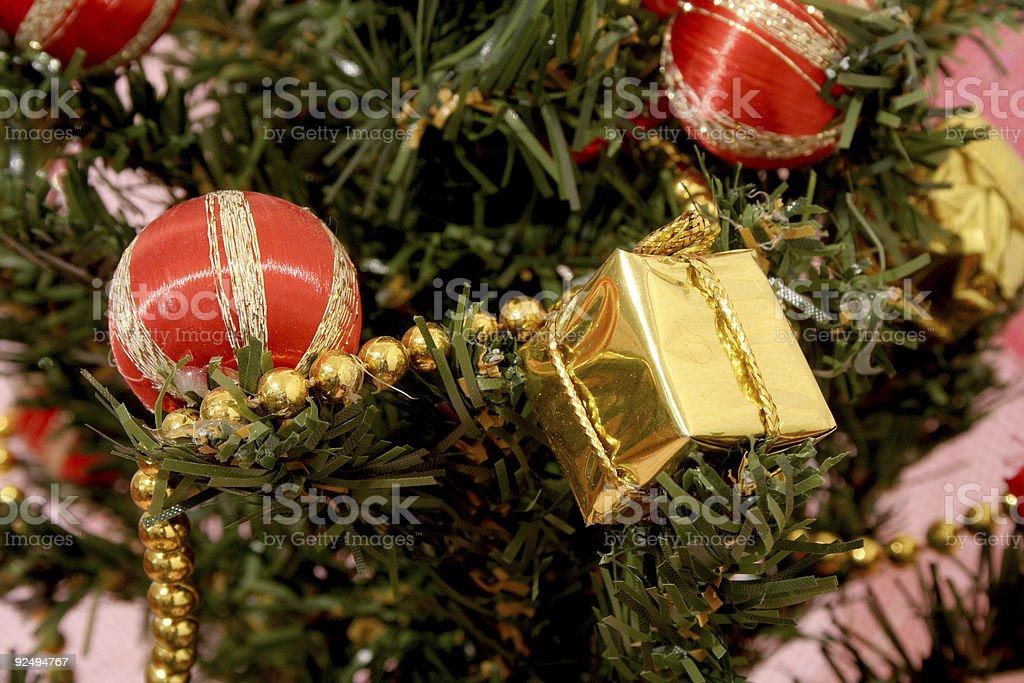 Christmas tree detail royalty-free stock photo