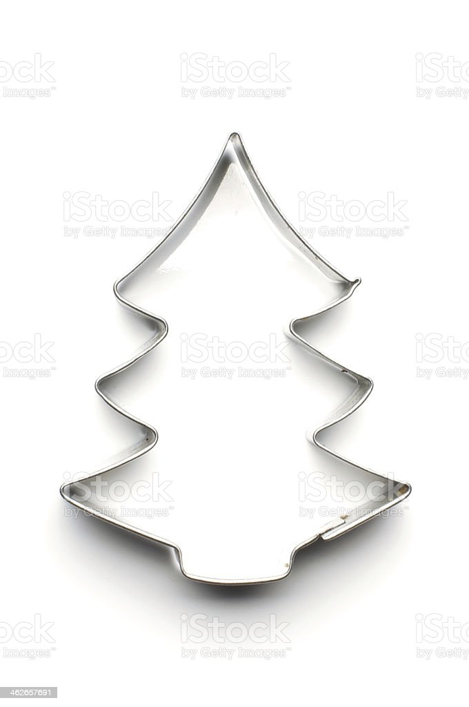 Christmas tree dough cut shape stock photo