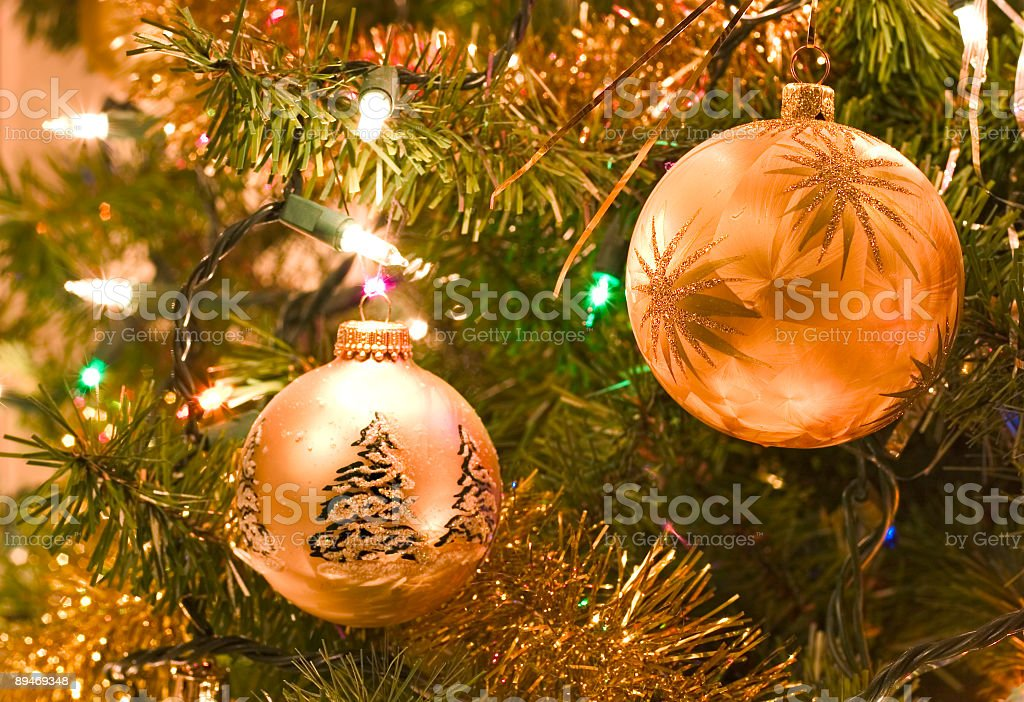 christmas tree fragment royalty-free stock photo