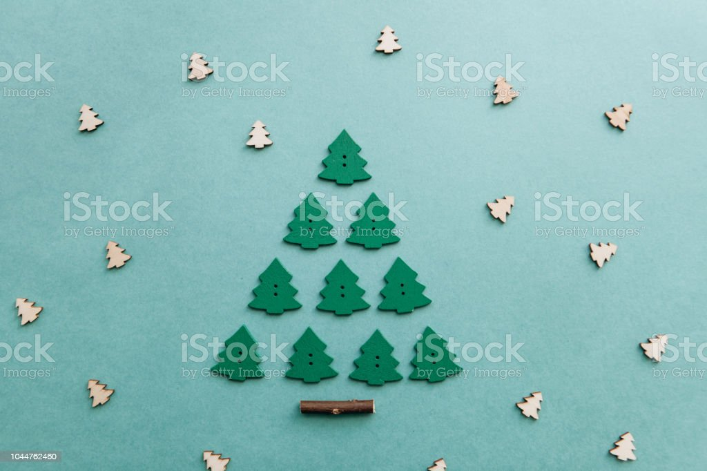 Christmas In Portugal 2019.Christmas Tree From Other Small Wooden Christmas Trees Stock