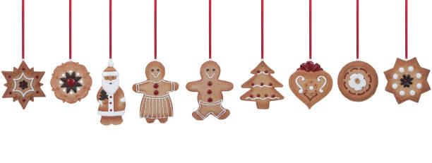 lebkuchen-weihnachtsschmuck - lebkuchenherzen stock-fotos und bilder