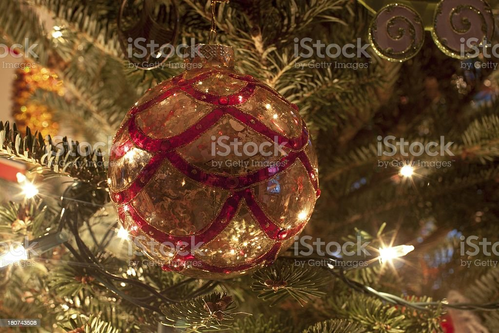 Christmas Tree Globe Ornament Background royalty-free stock photo