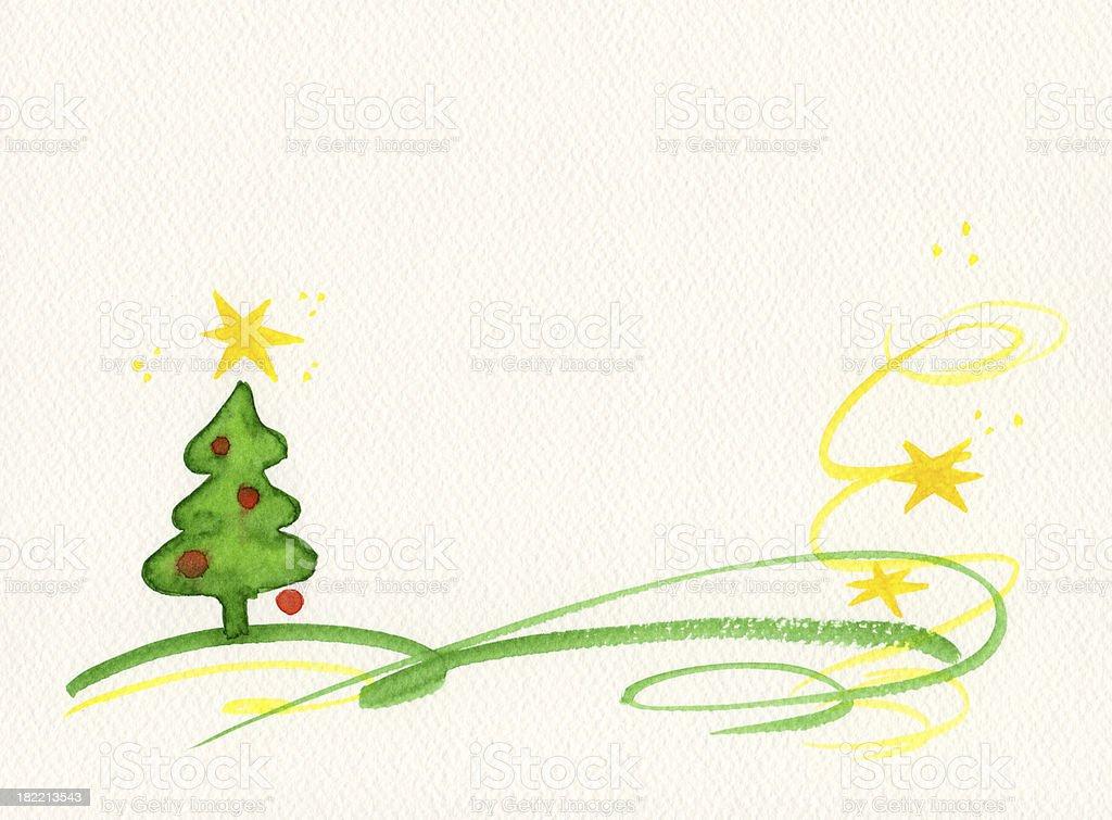 Christmas tree greeting card royalty-free stock photo