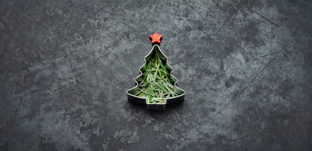 Christmas Tree - Holiday Blackboard Metal Gold Glitter Fun Humor stock photo