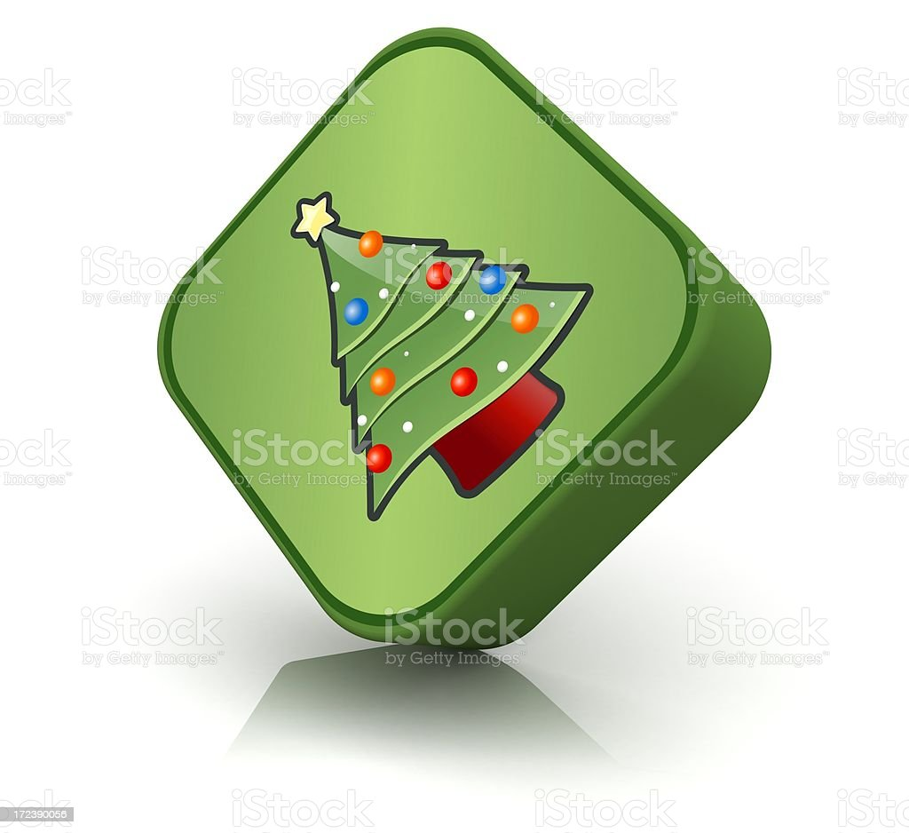 Christmas Tree Icon royalty-free stock photo