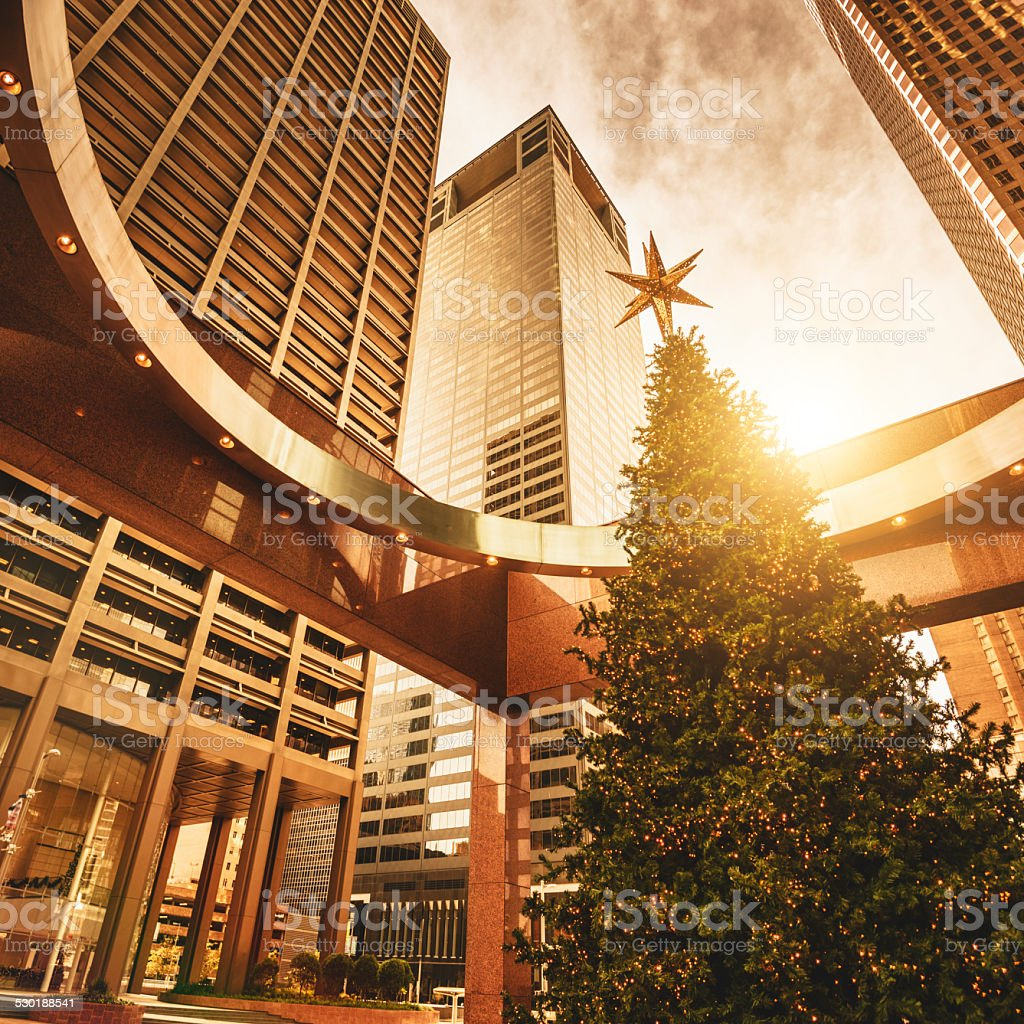 Christmas Tree In Houston Stock Photo - Download Image Now ...