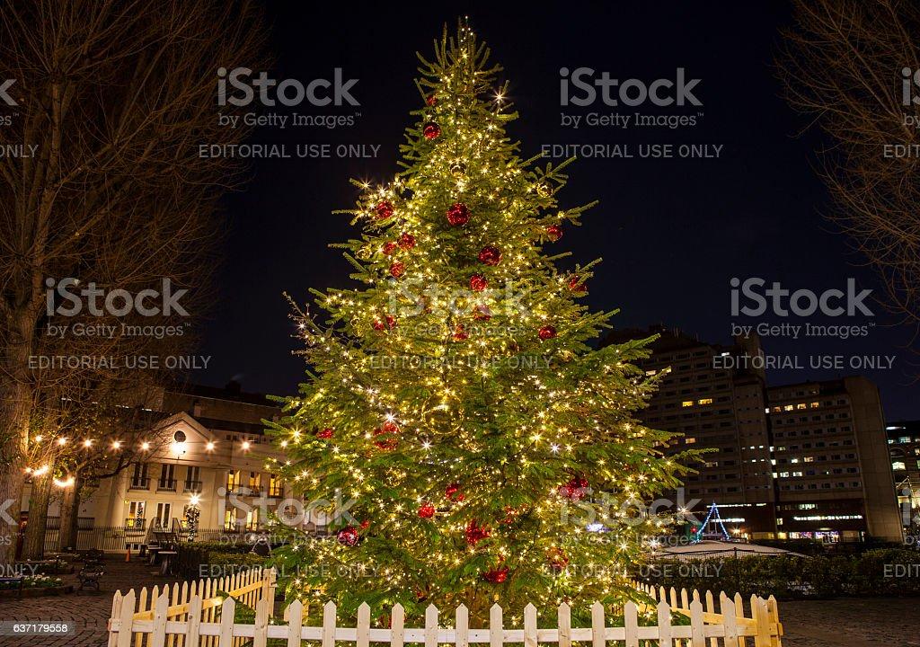 Christmas Tree in London stock photo