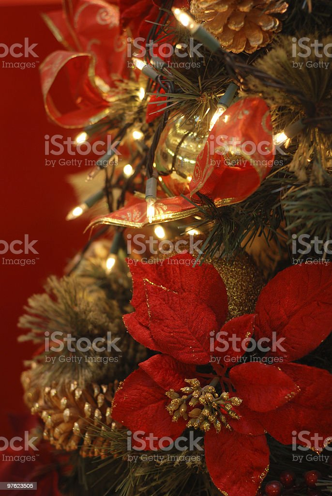 Christmas tree in red royalty-free stock photo