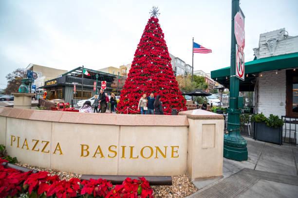 Weihnachtsbaum in Sand Diego square, USA – Foto