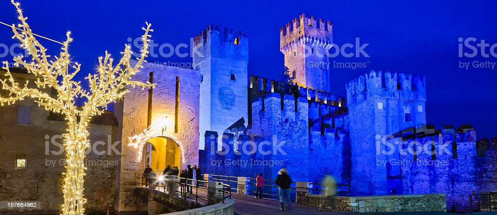 Christmas Tree in Sirmione, Italy stock photo