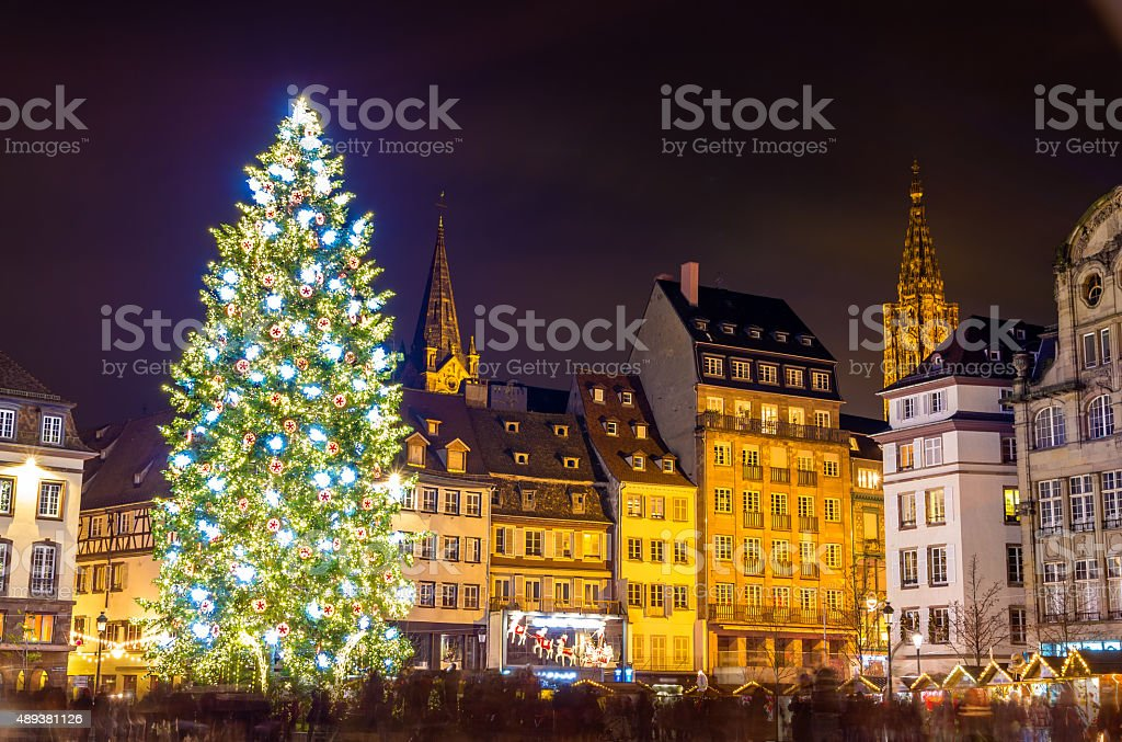 Christmas tree in Strasbourg, 'Capital of Christmas'. 2014 - Als royalty-free stock photo