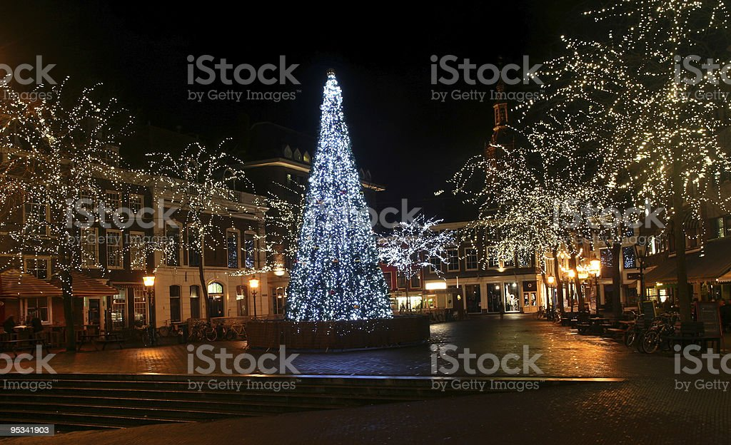 Christmas Tree in the City royalty-free stock photo