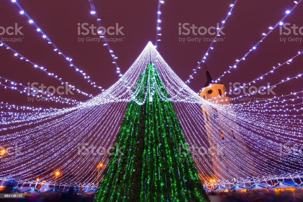 Christmas tree in Vilnius, Lithuania royalty-free stock photo