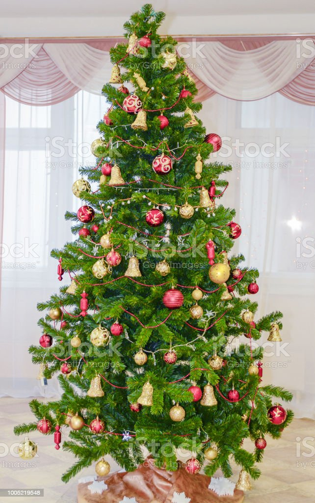 Christmas Decoration Indoors.Christmas Tree Indoors Stock Photo Download Image Now Istock