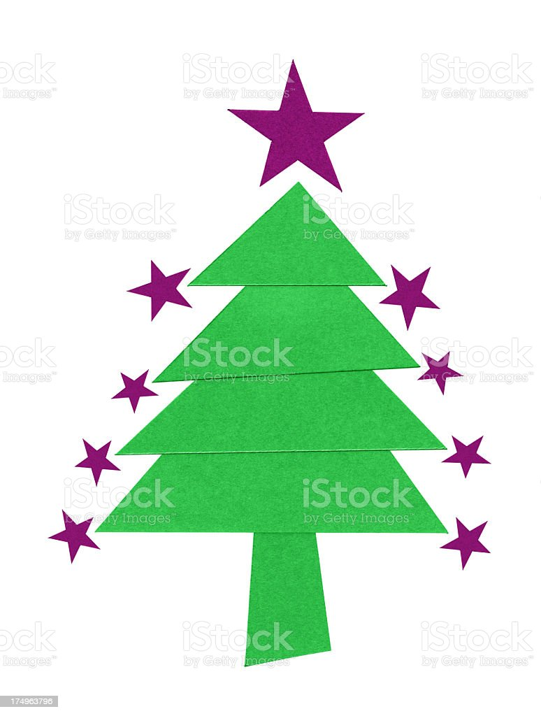 Christmas tree (Clipping path!) isolated on white background royalty-free stock photo