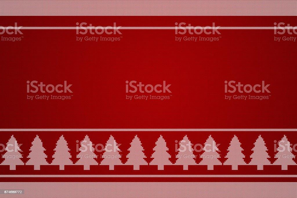 Weihnachtsbaum-stricken-Hintergrund. – Foto