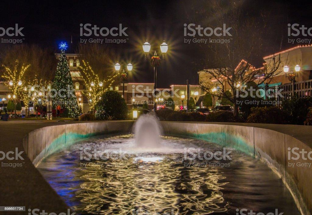 Christmas Tree & Lights stock photo