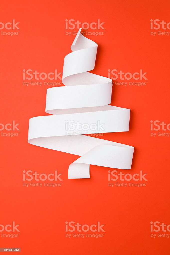 Christmas Tree Made Of Paper stock photo