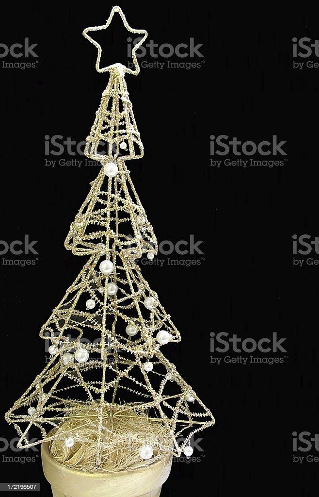 Christmas Tree: Modern, isolated royalty-free stock photo