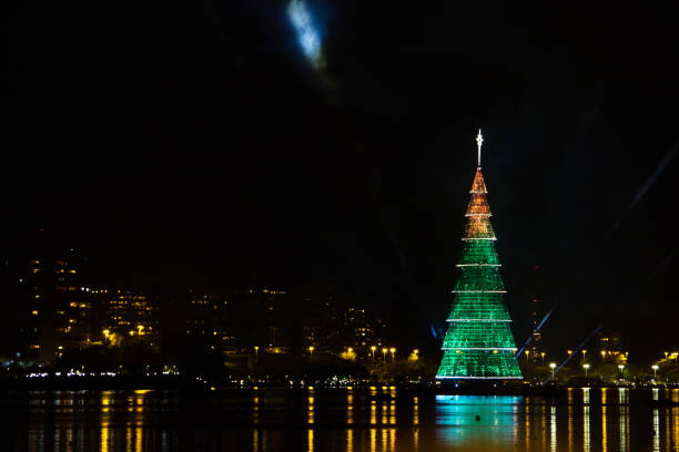 Christmas tree of Rodrigo de Freitas Lagoon Inauguration of the Christmas tree of Rodrigo de Freitas Lagoon - Rio de Janeiro - Brazil lagoa rio de janeiro stock pictures, royalty-free photos & images