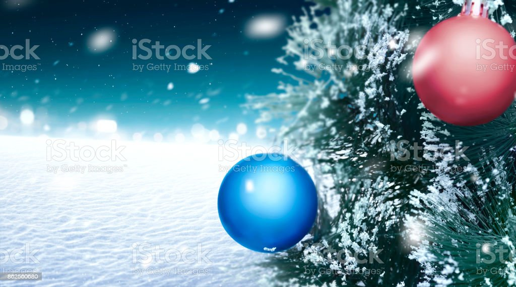 Christmas Tree On The Snow Land Stock Photo More Pictures Of