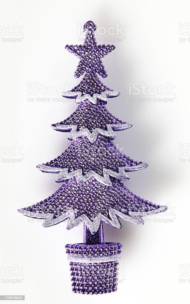 Árbol de Navidad sobre blanco foto de stock libre de derechos