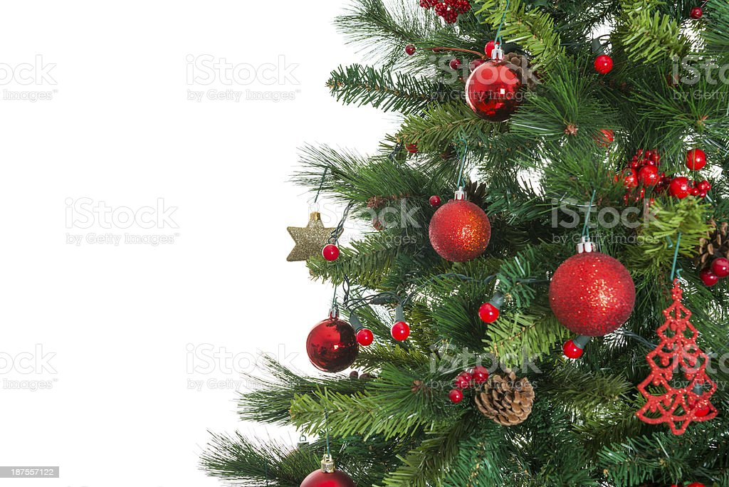 christmas tree on white stock photo