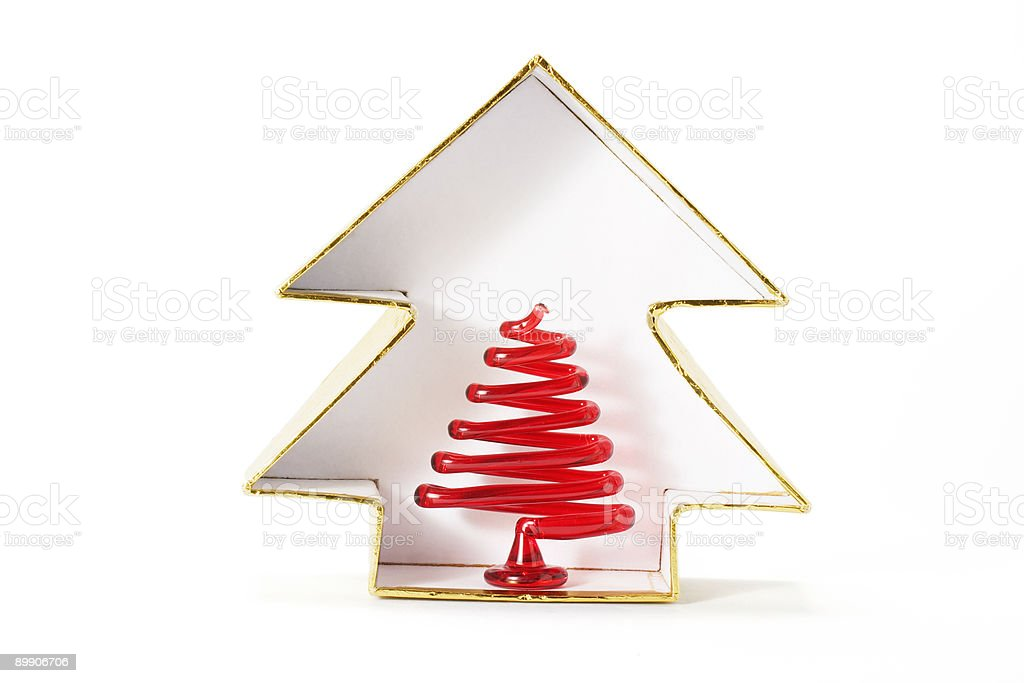 Emblema de Árvore de Natal foto de stock royalty-free