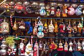 istock Christmas tree ornaments at Christmas market winter wonderland of London 1048138196