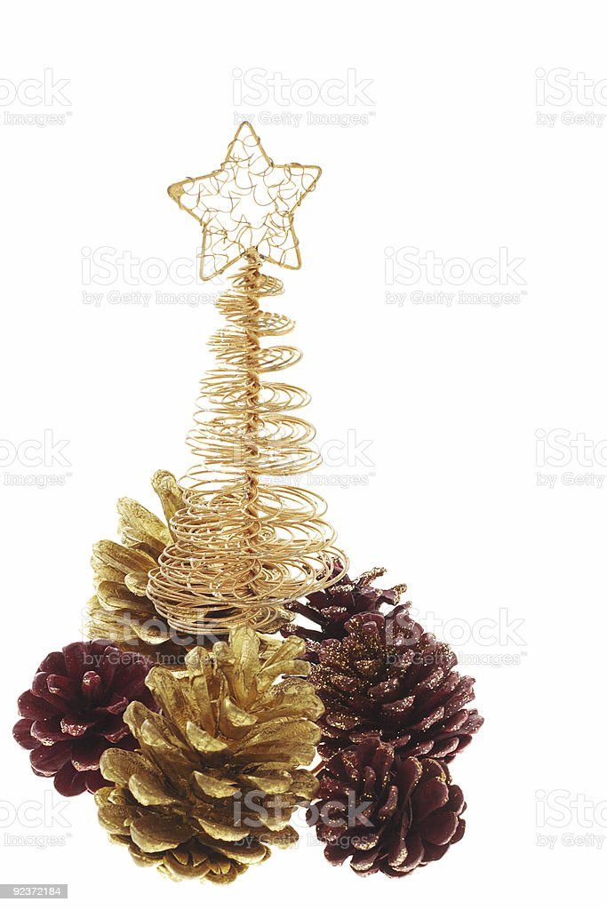 Christmas tree ornaments royalty-free stock photo