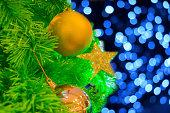 christmas tree over bokeh