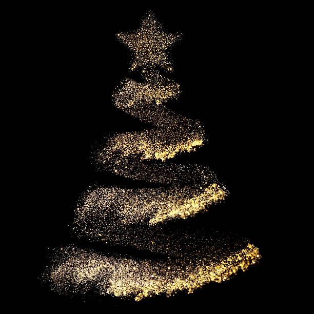 christmas tree - christmas decoration golden star bildbanksfoton och bilder