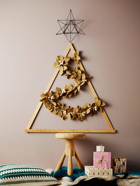 diy christmas tree - diy leder stock-fotos und bilder