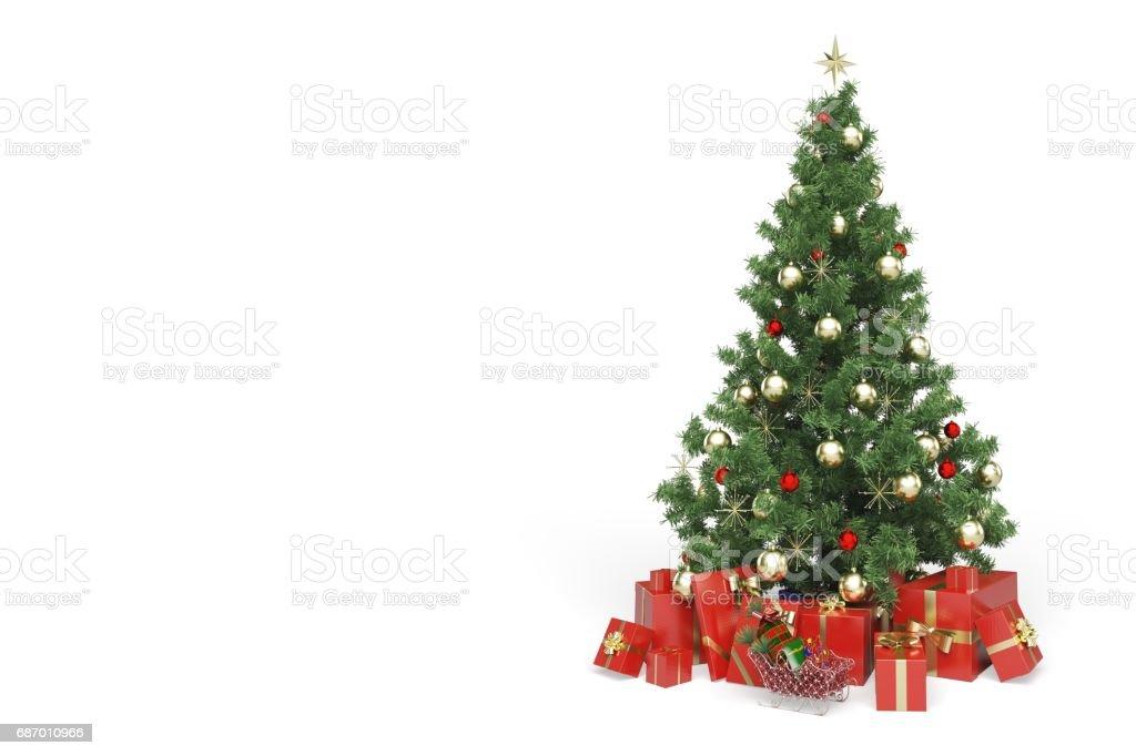 Christmas tree. - foto de acervo