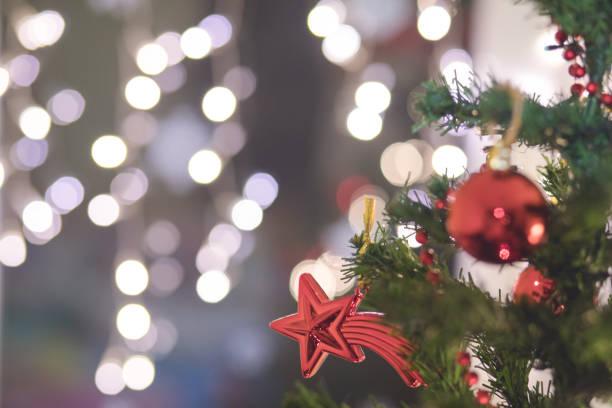 christmas weihnachtsbaum - promi zuhause stock-fotos und bilder