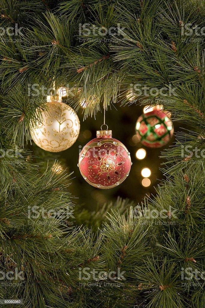 Christmas Tree Scene stock photo
