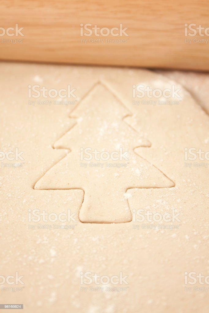 Christmas Tree Shape in Pastry royalty-free stock photo