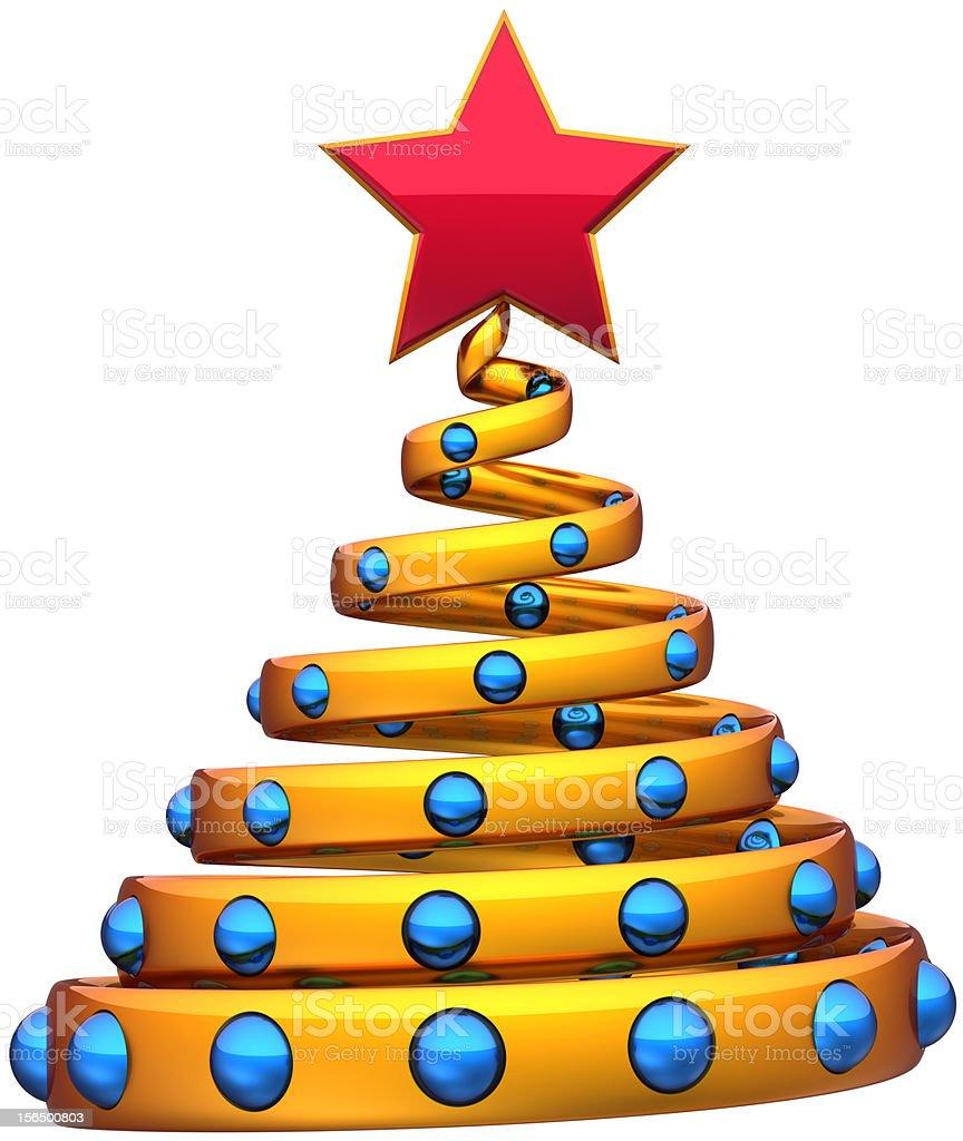 Christmas tree stylized Happy New Year bauble decoration royalty-free stock photo