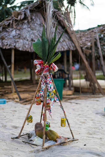 Christmas tree the the Isla de Perro Island in Caribbean See, Panama