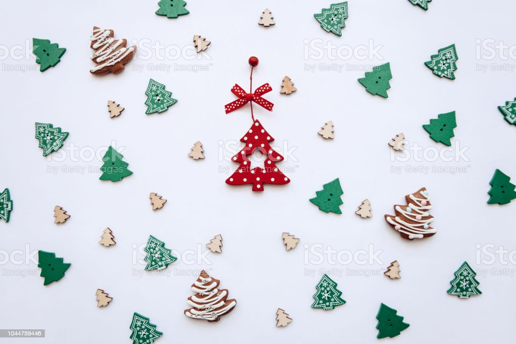 Christmas In Portugal 2019.Christmas Tree Toys Festive Decorated Background Stock Photo
