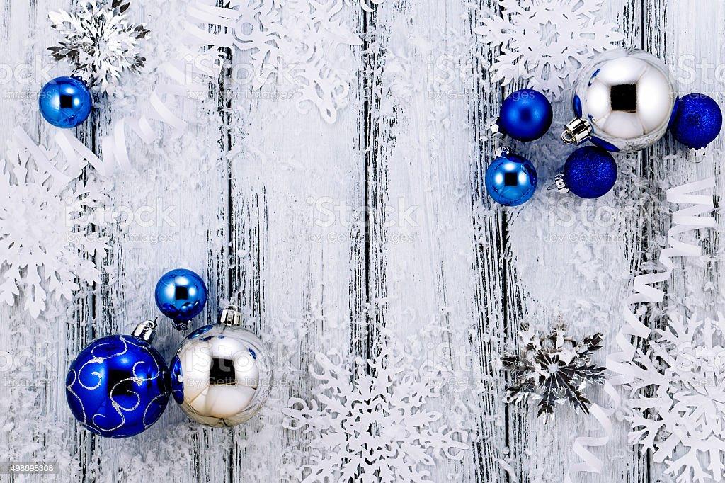 Decorazioni Albero Di Natale Blu : Albero di natale bianco e blu argento decorazioni palle neve e