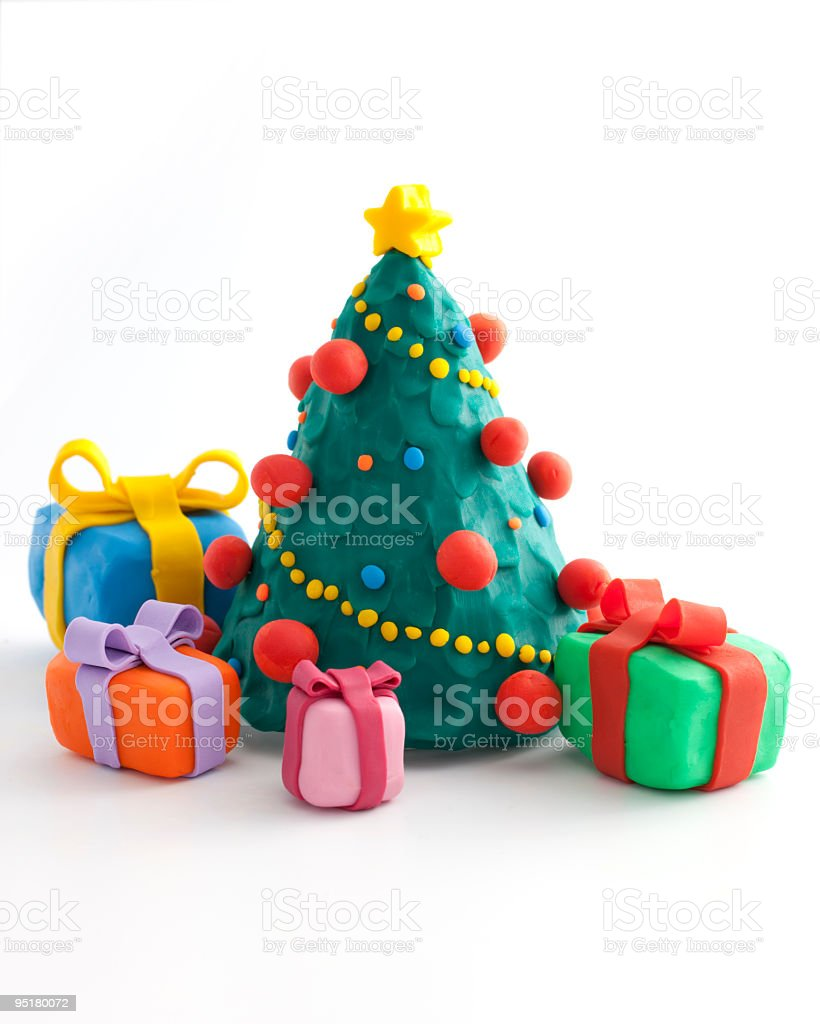 christmas tree with a presents royalty-free stock photo