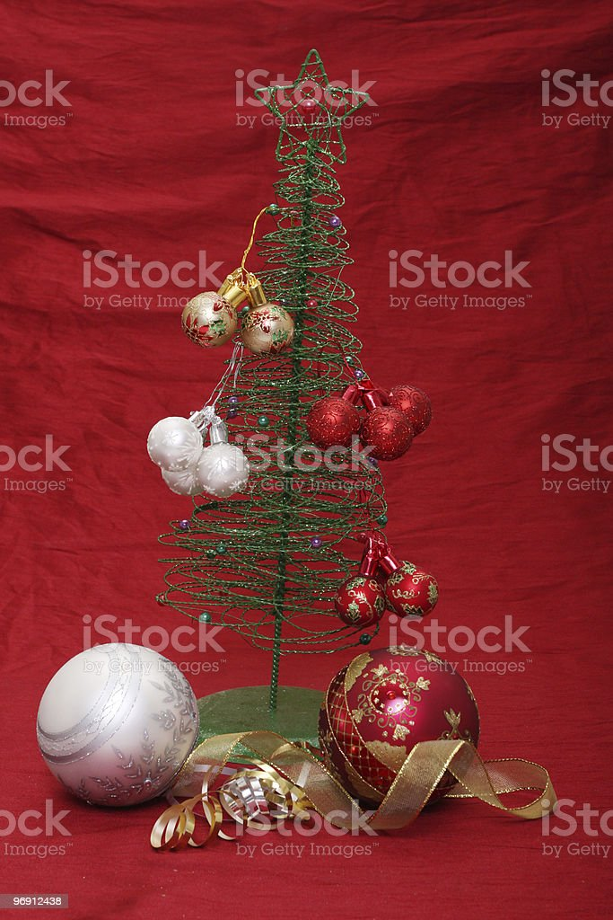 Christmas tree with baubles royalty-free stock photo